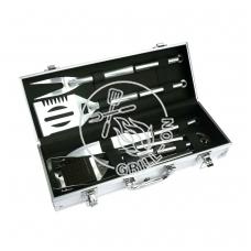 Grilio įrankių rinkinys, 5 vnt.,dėžutėje, nerūdijantis plienas