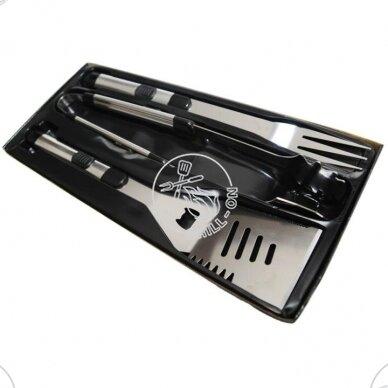 Landmann grilio įrankių rinkinys, 3 vnt. dėžutėje 3