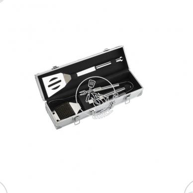 Grilio įrankių rinkinys, 3 vnt.,dėžutėje, nerūdijantis plienas