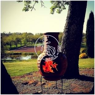 Mexican Chimenea lauko židinys - krosnis didelis