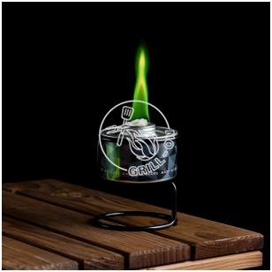 Spalvotos liepsnos žvakė - ŽALIA