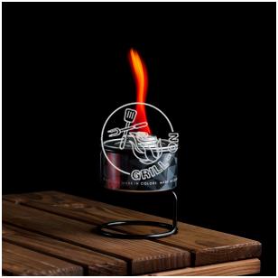 Spalvotos liepsnos žvakė - RAUDONA